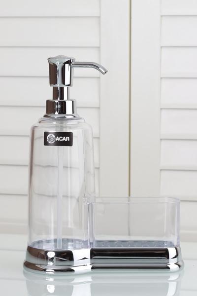 Acar Home - Sıvı Sabunluk Süngerli Akrilik AKR-009576