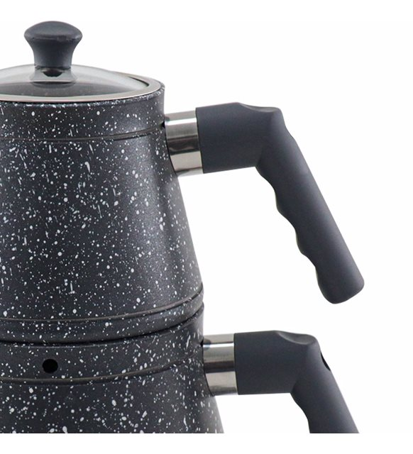 Sonessa Granit Çaydanlık Gri
