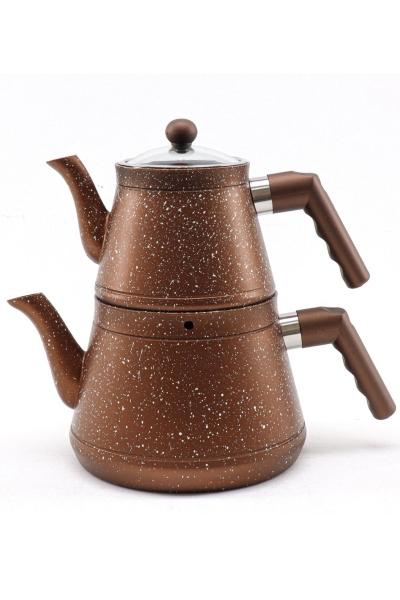 Sonessa - Sonessa Granit Çaydanlık Kahverengi