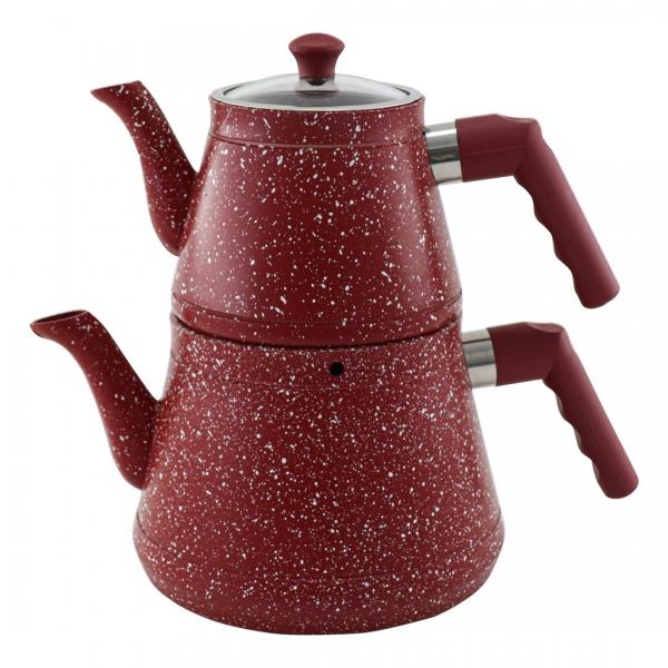 Sonessa - Sonessa Granit Çaydanlık Kırmızı