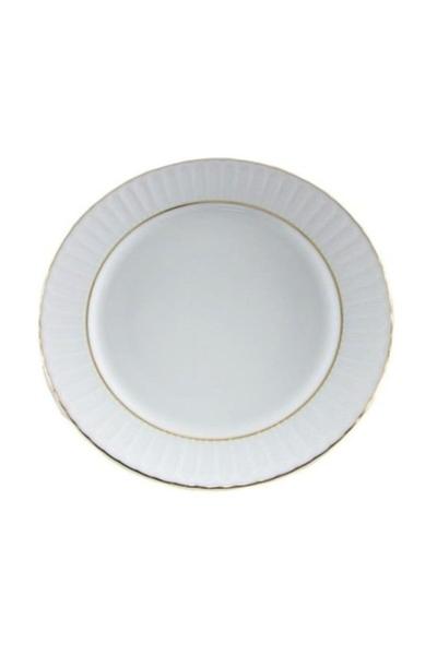 Güral Porselen - Yaldızlı Çukur Sulu Yemek Tabağı <br> Küçük Boy 6 lı 19 cm