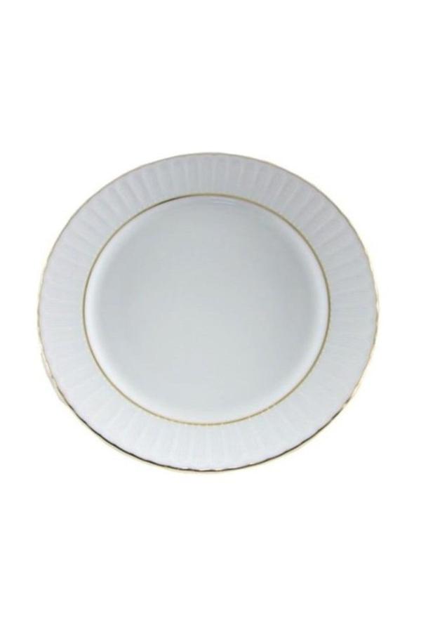 Yaldızlı Çukur Sulu Yemek Tabağı <br> Küçük Boy 6 lı 19 cm
