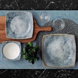 Güral Porselen - Yemek Seti Güral Porselen <br> 24 Parça 6 Kişilik Elegant<br> Kare Yemek Takımı <br> GBSCR24Y4100457