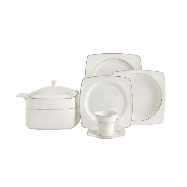 Güral Porselen - Yemek Takımı 12 Kişilik Kare <br> GBSCR85KYT8305113